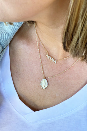 Gold Mama Necklace - Sweetly Striped