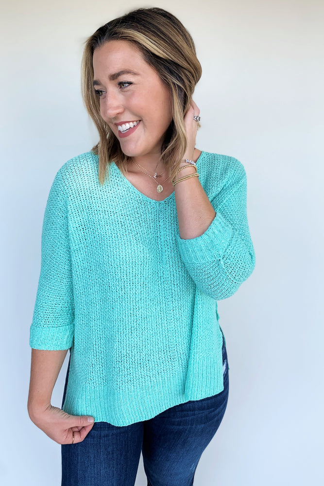Summer Breeze Knit Sweater - Sweetly Striped