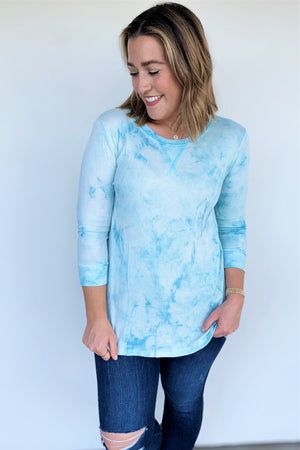 Tie Dye Vibes Thermal Top - Sweetly Striped