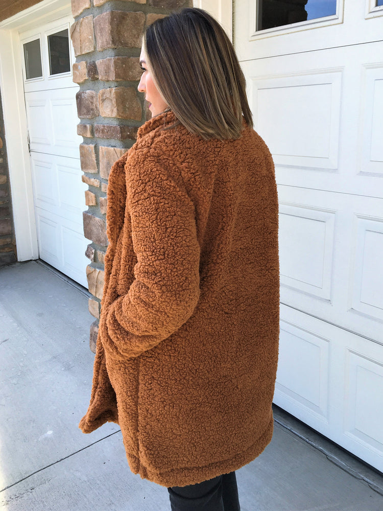 Teddy Coat - Cinnamon