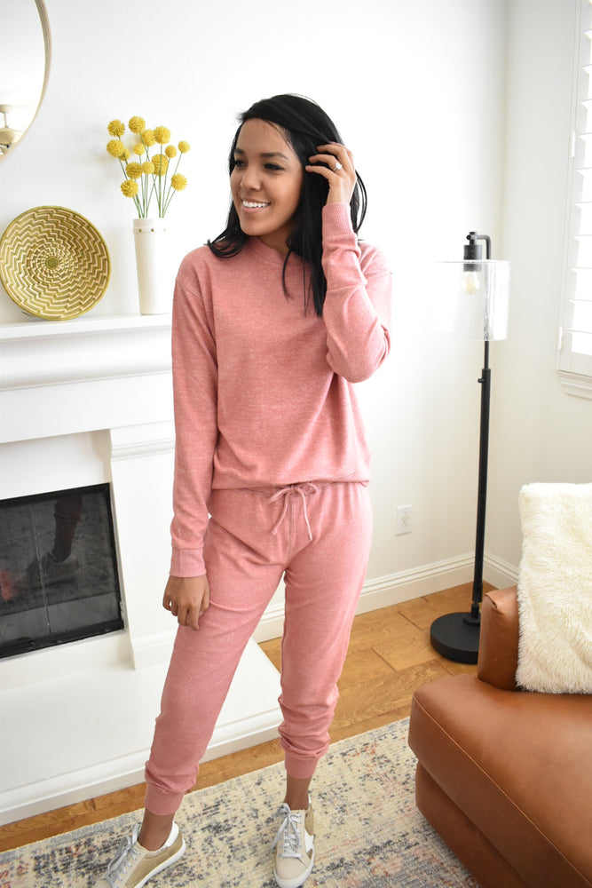 Soft Rosy Joggers