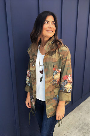 Floral Camo Jacket - Sweetly Striped