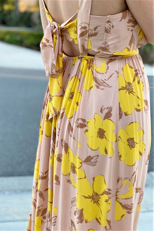 70's Amora Maxi Dress - Sweetly Striped