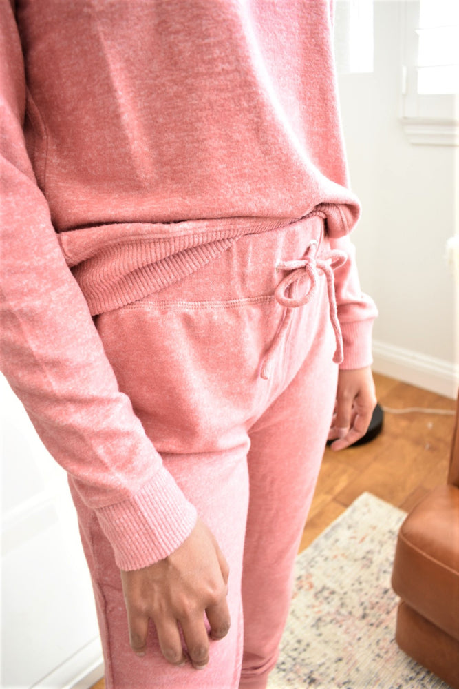 Soft Rosy Joggers - Sweetly Striped