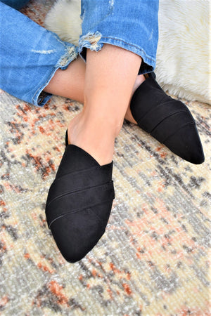 Suede Slip On Flats - Sweetly Striped