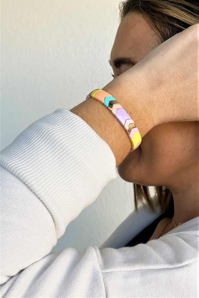 Pastel Rainbow Arrow Bracelet - Sweetly Striped