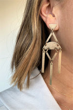 Gold Modern Statement Earrings