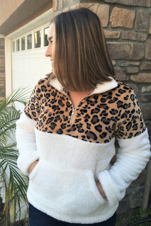 Cozy Leopard Pullover