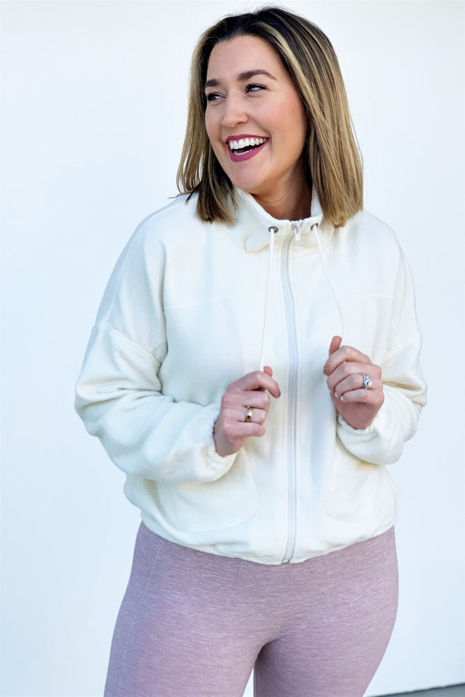 Pocket Zip Up Fleece Jacket