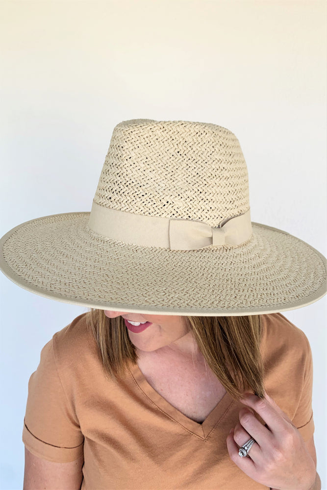 Emma Paper Straw Hat- Natural