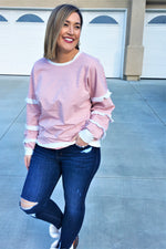 Blush Ruffle Sleeve Top