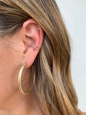 Double Band Ear Cuff - Sweetly Striped
