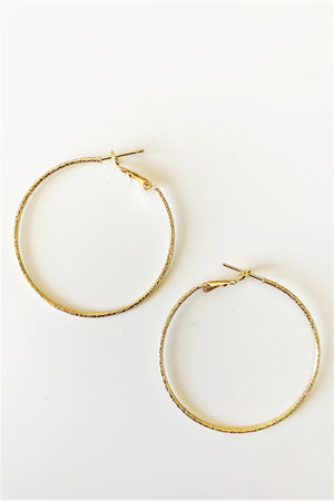 Dainty Gold Hoop Earrings - Sweetly Striped