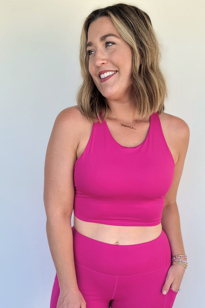 Fuchsia Racerback Crop Top