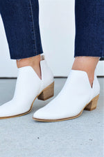 White Side Slit Bootie - Sweetly Striped