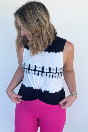 Twist Front Tank Top - Tie Dye