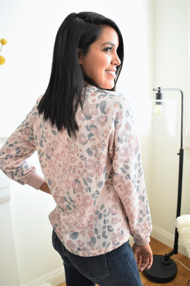 Blush Leopard Print Pullover - Sweetly Striped