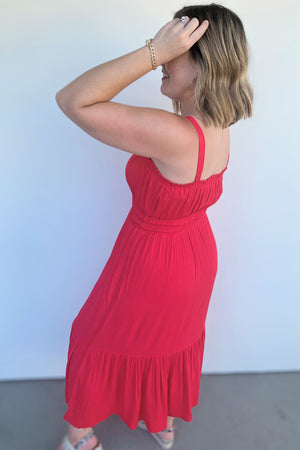 Classic Red Maxi Dress