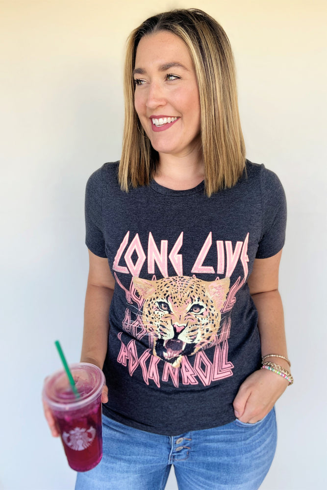 Rock N Roll Cheetah Graphic Tee