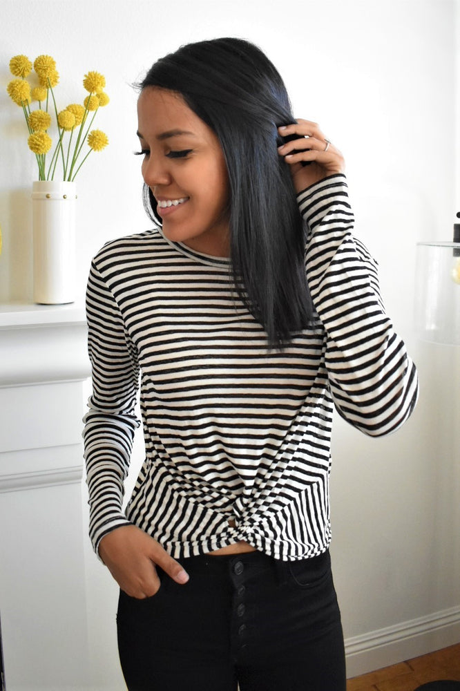 Striped Crop Long Sleeve