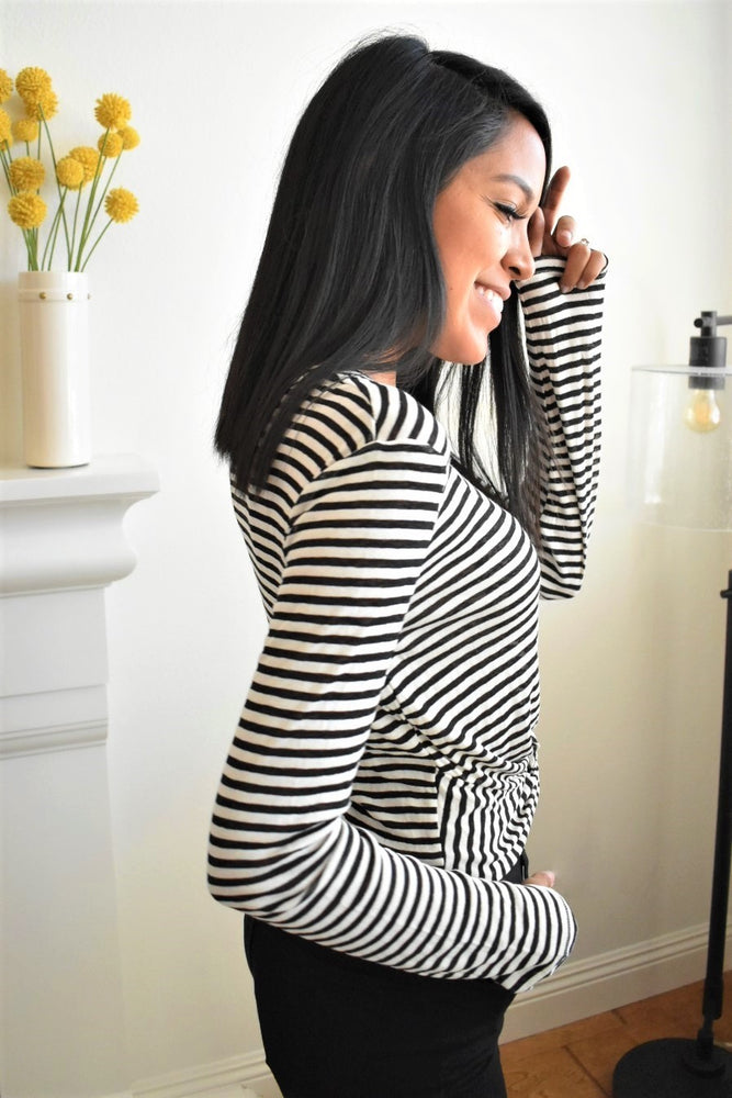 Striped Crop Long Sleeve - Sweetly Striped