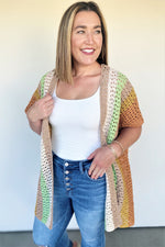 Crochet Short Sleeve Cardigan