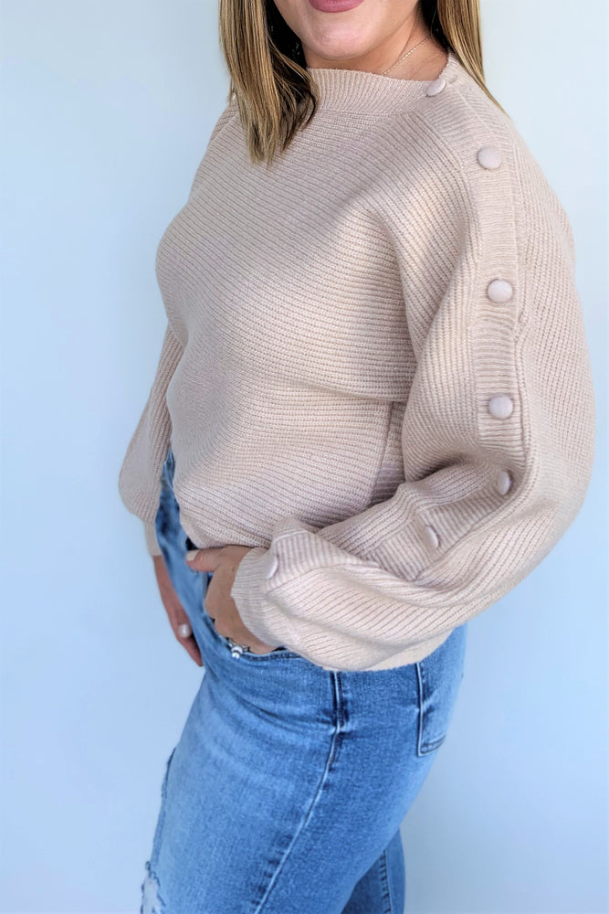 Button It Up Ribbed Sweater