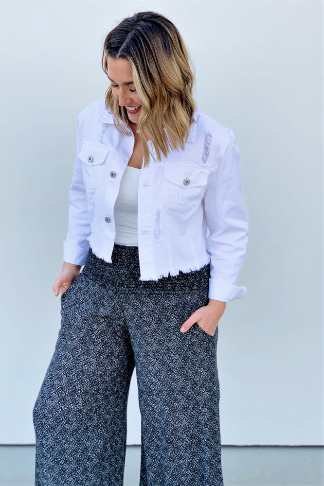 Staple Wide-Leg Smocked Pants - Sweetly Striped