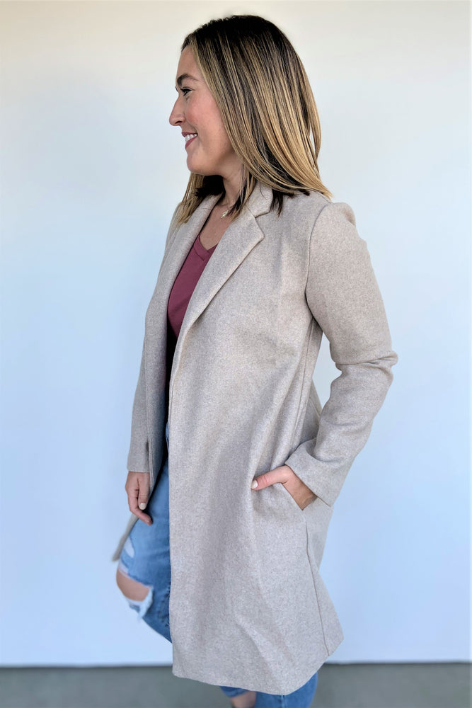 Tailored Oatmeal Jacket