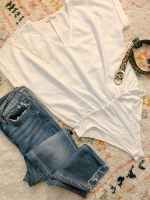 V Neck Blouse Bodysuit