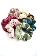 Jewel Tone Velvet Hair Scrunchie
