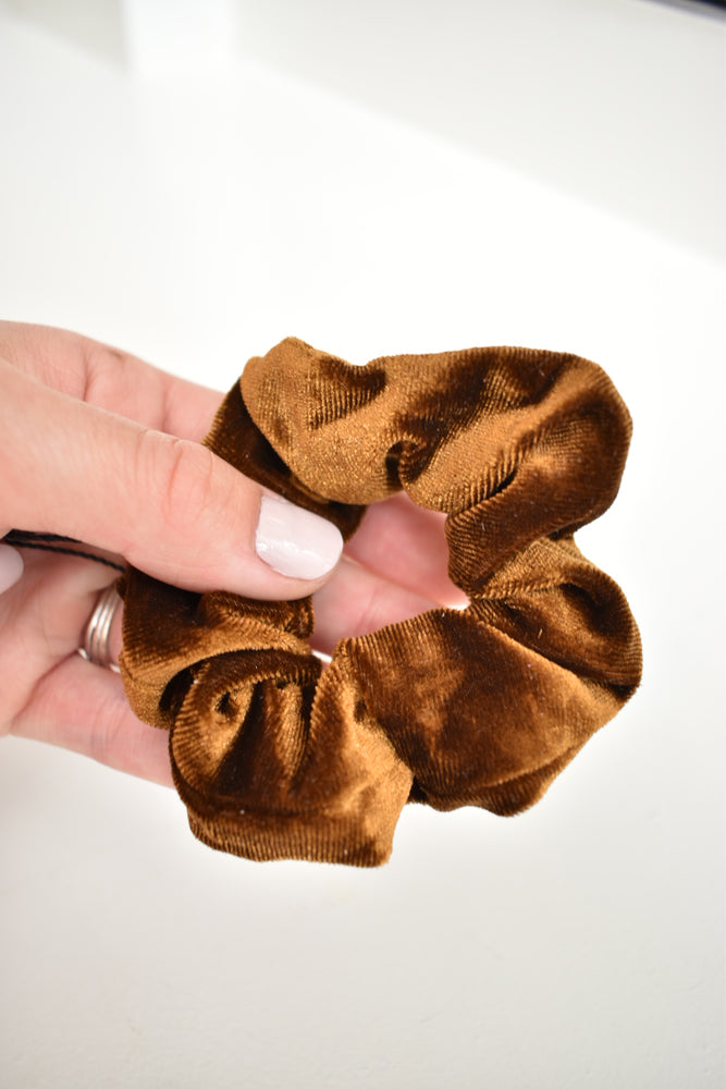 Jewel Tone Velvet Hair Scrunchie - Sweetly Striped