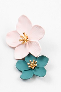 Flower Earrings - Pink - Sweetly Striped