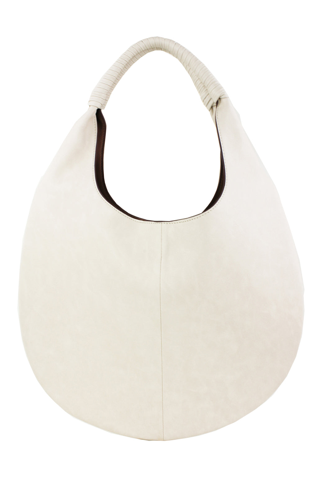 Reversible Round Hobo Bag - Ivory - Sweetly Striped