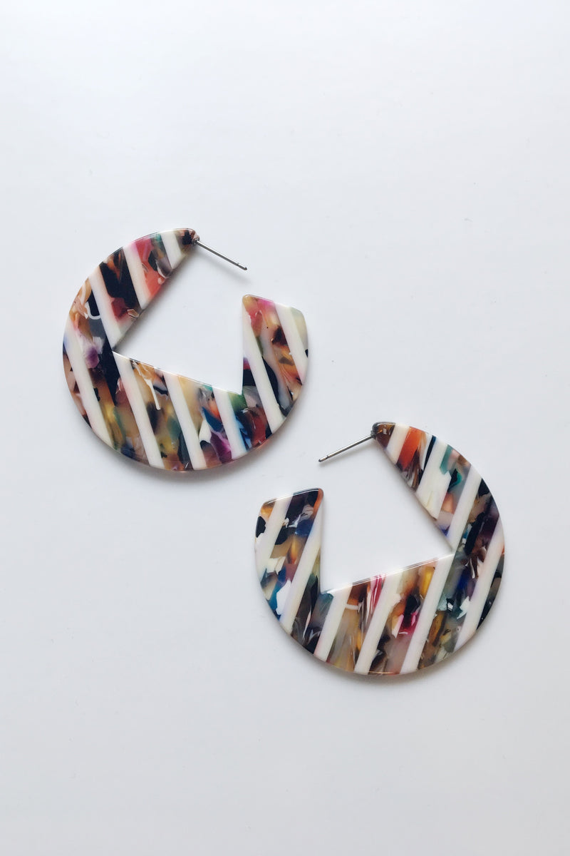 Striped Marbled Hoops - Sweetly Striped