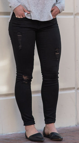 'Sarah' Skinny Jeans - Sweetly Striped