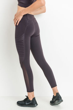 Best You Moto Legging - Plum - Sweetly Striped