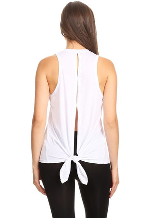 Cutout Top - White - Sweetly Striped
