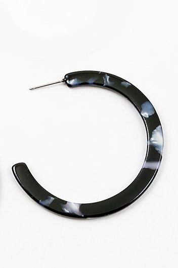 Marbled Black Hoop - Sweetly Striped