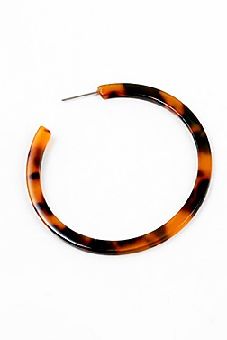 Tortoise Thin Hoop - Sweetly Striped