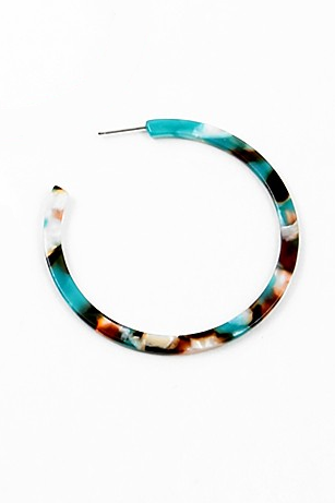 Marbled Multi-Color Thin Hoop - Sweetly Striped