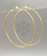 Large Textured Gold Hoops