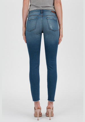'Beacon' Crop Skinny Jeans - Sweetly Striped