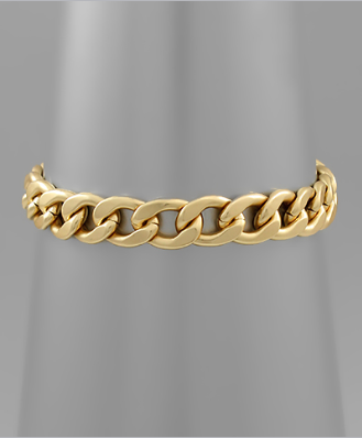 Gold Chain Toggle Bracelet
