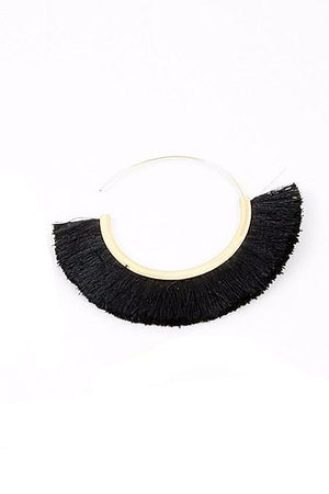 Large Fringe Hoop - Sweetly Striped
