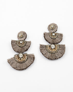 Chic Statement Earrings - Sweetly Striped