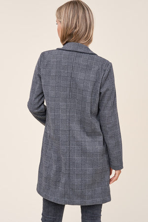 Plaid Collared Jacket
