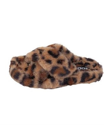 Leopard Criss Cross Slippers