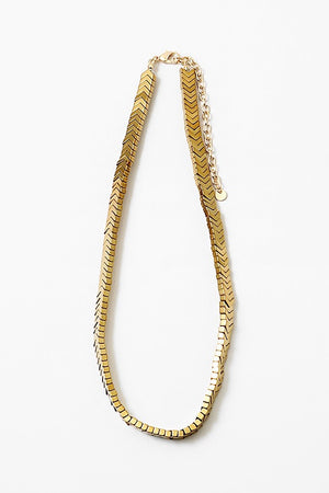 Gold Arrow Necklace - Sweetly Striped