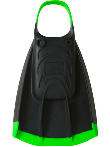 DMC REPELLOR FIN BLACK W/GREEN STRAP N TIP